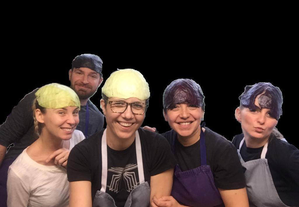 Equipe du restaurant la pratique montpellier